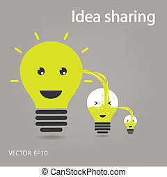 idea sharing ,ideas concepts , creative sign,vector...