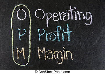 Chalk drawing - OPM: Operating,Profit, Margin