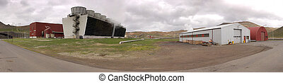 Krafla Power Station - The 60MW geothermal powerplant in the...