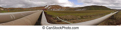 Krafla Powerstation - The 60MW geothermal powerplant in the...