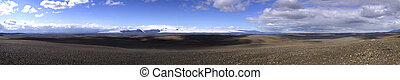 Volcanic desert landscape