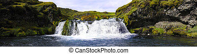 Landmannalaugar waterfall - A small, hidden and obscured...