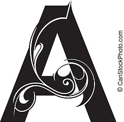 Letter shape - Decorative letter shape isolated. Font type A