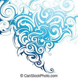 Water splash - Abstract ornament of decorative swirls shaped...