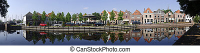 Spaarndam Panoramic Scene - A 34 image panoramic view of the...