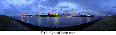 Steel works skyline - The skyline of a huge steel production...