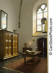 The crypt - The cript of an ancient church with the holy...