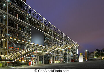 Centre Pompidou - The cultrual center Centre Pompidou at...