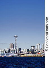 Seattle Skyline - The Seattle Skyline seen from the water