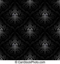 seamless black silk wallpaper pattern