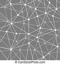 abstract black and white net seamless background - Vector...