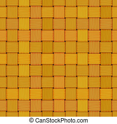 seamless woven wicker rail fence texture - vector woven...