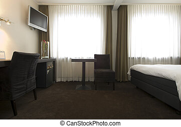 Hotel Room interior - The interior of a stylish, business...