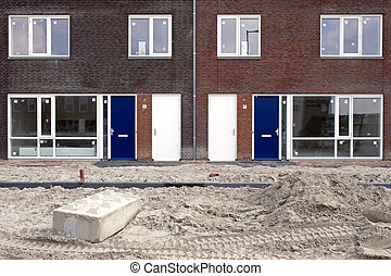 New Housing Development - New houses being erected,...