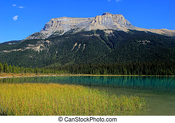 Fossils Range at Emerald Lake, Yoho National Park, Canada -...