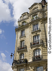 Parisian Balconies - Architectural details of an Art Nouveau...
