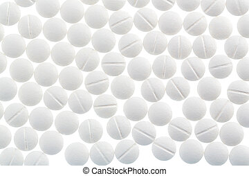 white tablets in abundance - white tablets, symbol photo for...