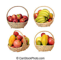 gala apple - Gala apple in the basket isolated on white