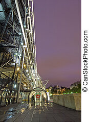 Centre Pompidu - The steel structure of the Centre Pompidu...