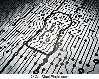 Proteção, concept:, circuito, tábua,...