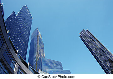 Urban Architecture - The high rise buildings surrounding...