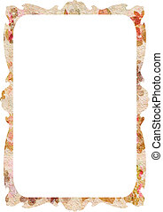 flowers background with parchment - background with space...