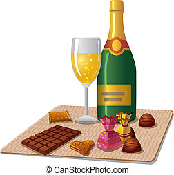 champagne and candy
