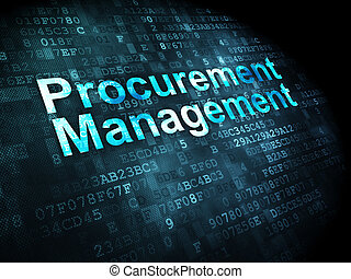 Business concept: Procurement Management on digital...