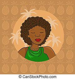 Beautiful African Girl - Beautiful curl african girl in...