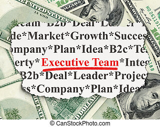 Business concept: Executive Team on Money background -...
