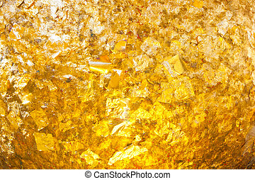 The gold leaf texture for background