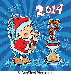 new year replaces the old year - Chinese new year of the...