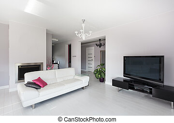 Vibrant cottage - living room with a huge tv