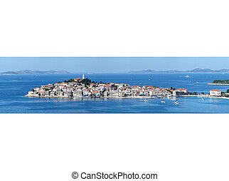 Primosten panorama - Panorama of famous touristic...