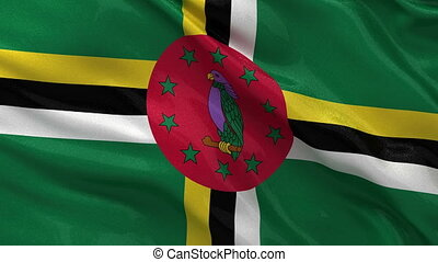 Flag of Dominica seamless loop