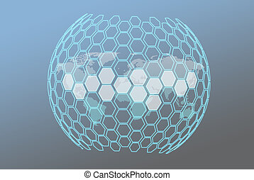 Abstract background base on wireframe shape, made from...