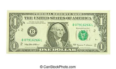 jeden, dolar