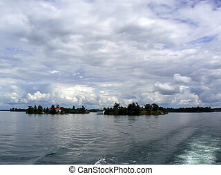 Thoudand islands, Ontario lake, Canada - One of the thoudand...