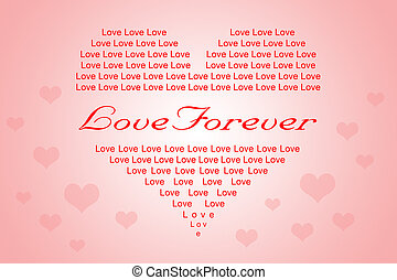 Valentine or Love Background in Heart Shape