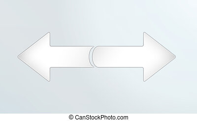two inverse arrows - two silver inverse arrows with on light...