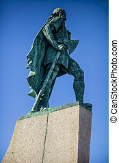 Lief Eriksson statue Iceland - Statue of explorer Lief...