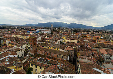 Aereal View Of Lucca - Italy