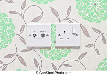 Power supply - Electric socket and radio and tv aeriel...