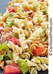 pasta salad - closeup of a refreshing pasta salad