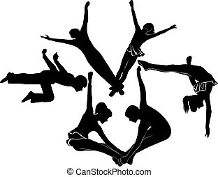 acrobats gymnasts