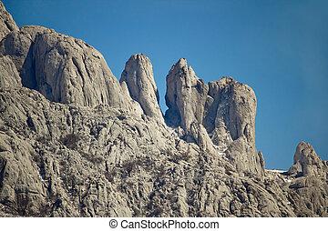 Stone sculptures of Velebit mountain