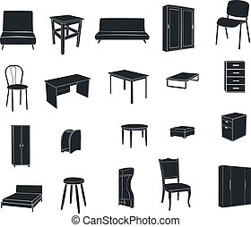 Furniture isolated on a white backg