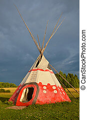 Colored wigwam - Colored National wigwam of American...