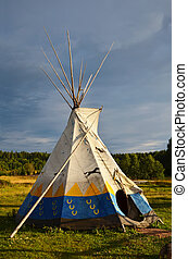Colored wigwam - Colored National wigwam of American Indians...