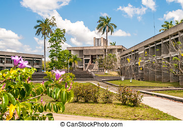 Belmpopan - Capital of Belize - Parliament Building in...